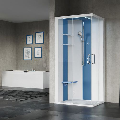 multi-function shower cubicle / steam / hydromassage / glass