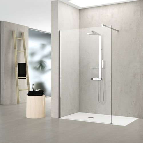 fixed shower screen / corner / glass