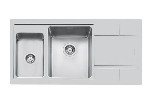 2 bowl stainless steel kitchen sink S4000 97.1,5V.Q4 - 4362 06* Foster