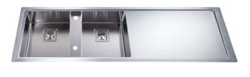 2 bowl stainless steel kitchen sink with drainer GHOST: LFG90SX ARTINOX