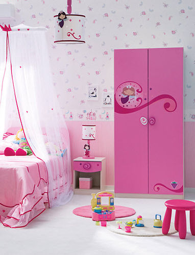 2 door kids wardrobe (girls) LOVELY : SR-1001 Cilek AS
