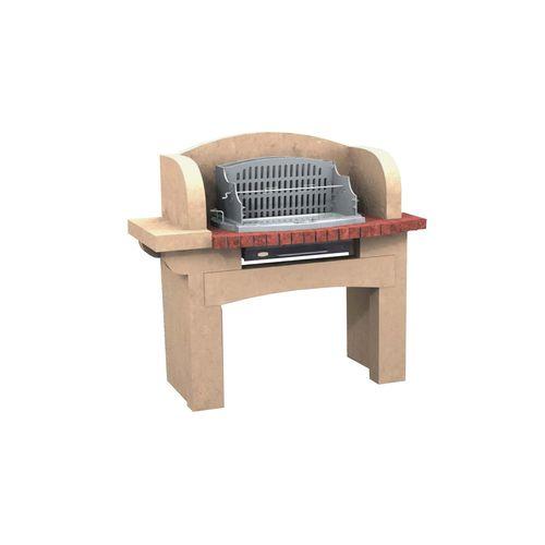 wood-burning barbecue / fixed / concrete / stone