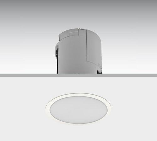 recessed emergency light / round / LED