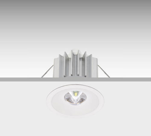 recessed ceiling emergency light / round / LED / in plastic