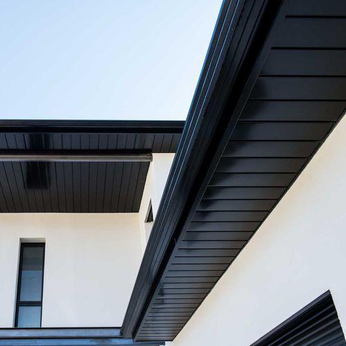 trapezoidal roof gutter / aluminum