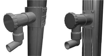 rainwater collector / with plug-in connector