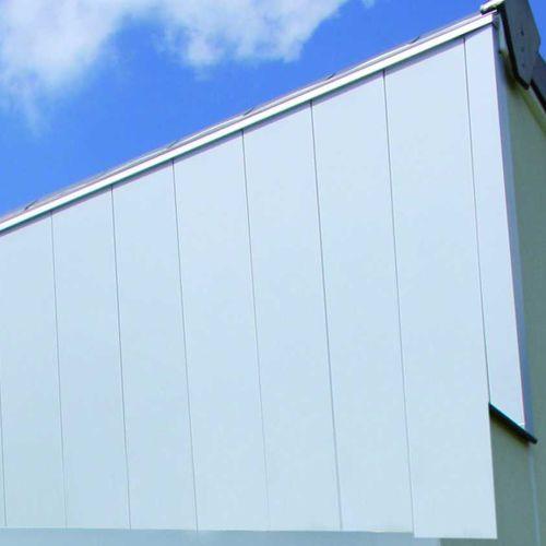 aluminum cladding / smooth / strip / for ventilated facades