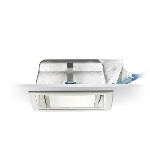 recessed downlight / compact fluorescent / square / polycarbonate