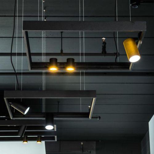 hanging light fixture / LED / round / square