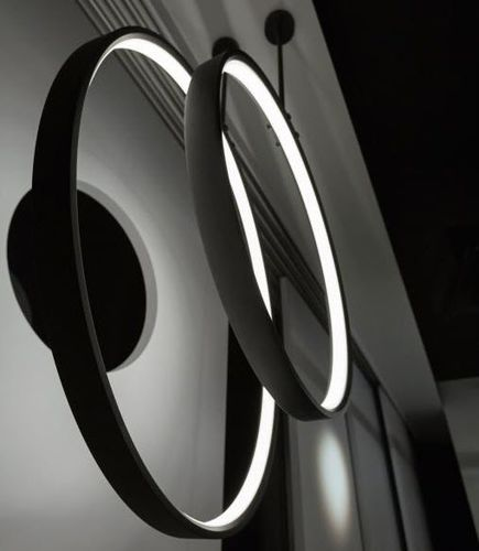 hanging light fixture / LED / round / polycarbonate