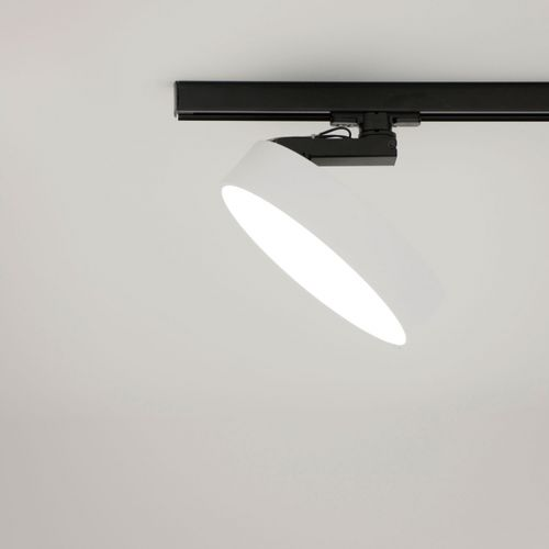 LED track light / round / polycarbonate / commercial SUPERNOVA XS PIVOT AD DELTA LIGHT