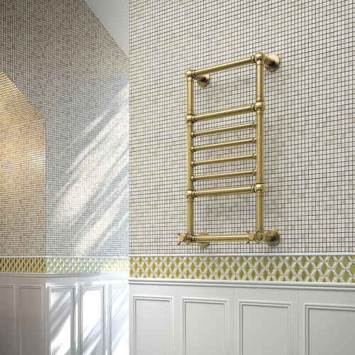 Hot water radiator / electric / brass / traditional AMIRA SCIROCCO H