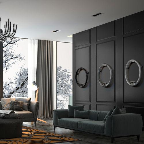 hot water radiator / electric / steel / original design