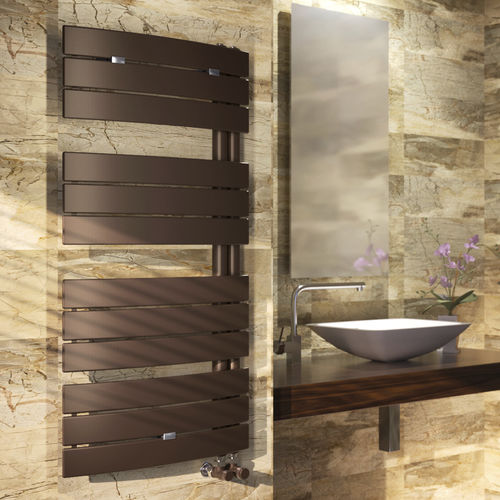 Hot water towel radiator / electric / steel / chrome SAIL SCIROCCO H
