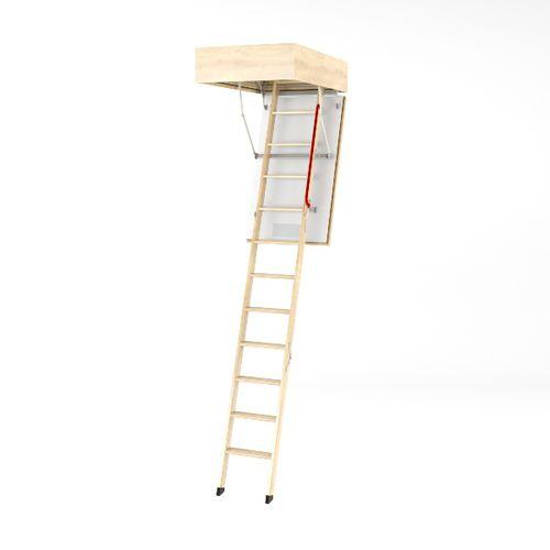 retractable ladder / wood