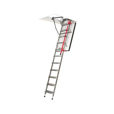 retractable ladder / telescopic / metal