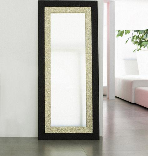 floor-standing mirror / contemporary / rectangular / wooden