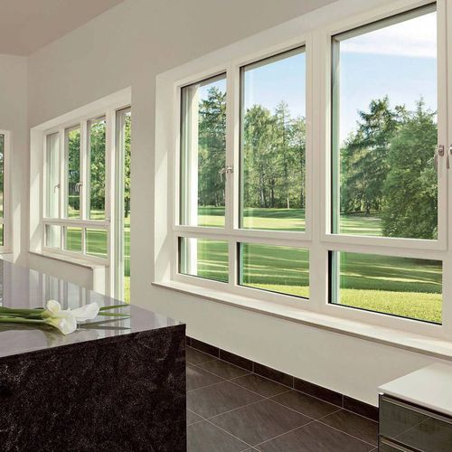tilt-and-turn window / aluminum / PVC / triple-glazed