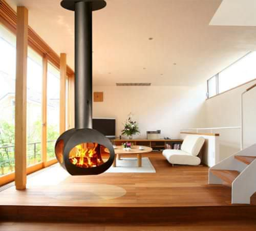 wood fireplace - FLAM N' CO