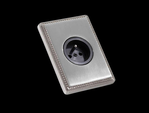 power socket / wall-mounted / brass