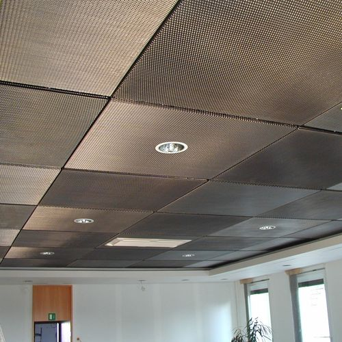 wire mesh suspended ceiling / stainless steel / acoustic