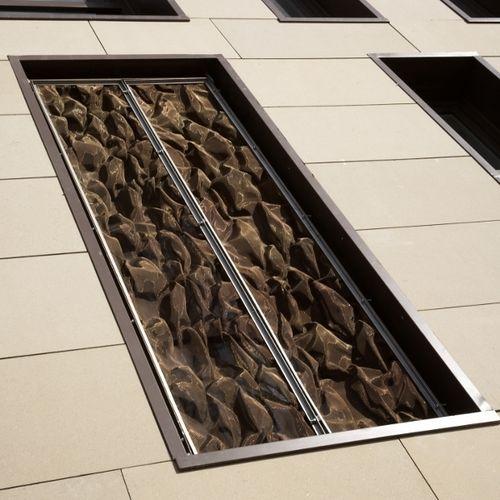 interior metal mesh / for ceilings / solar shading / stainless steel