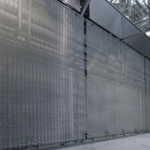 metal wire decorative panel / for interior / metal look / transparent