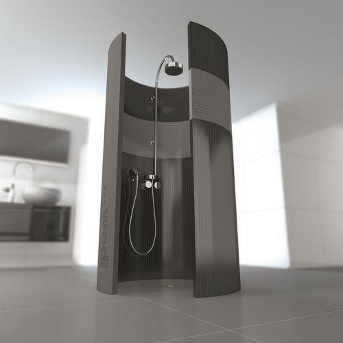 round shower base / fiberglass / concrete / polystyrene
