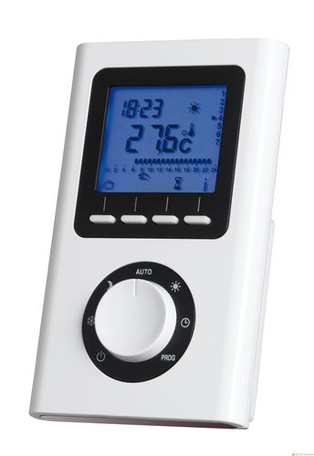 radiator thermostat / programmable / digital / wall-mounted