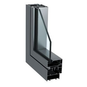 casement window / aluminum / thermal break