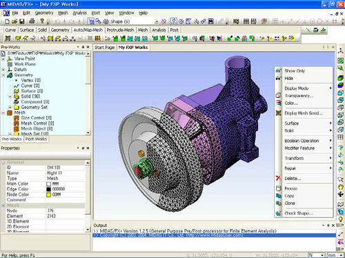 2D/3D Computer-aided design software CAD  MIDAS FX+ MIDASIT