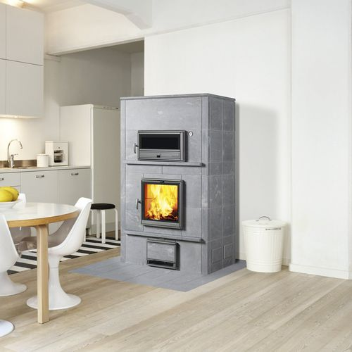 Wood heating stove / contemporary / soapstone / with oven TLU2000 TULIKIVI
