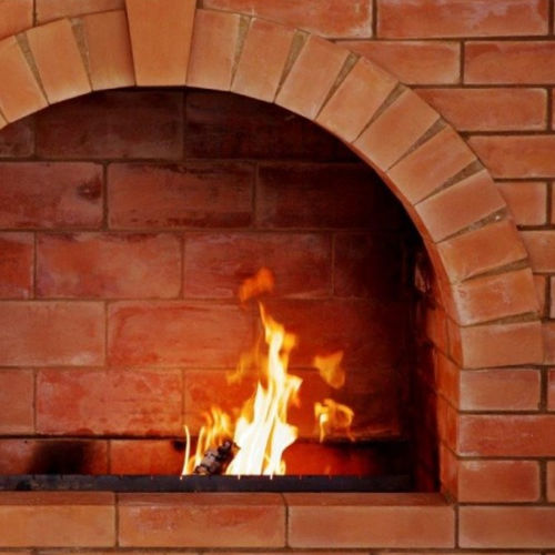 refractory brick / for walls / red / smooth
