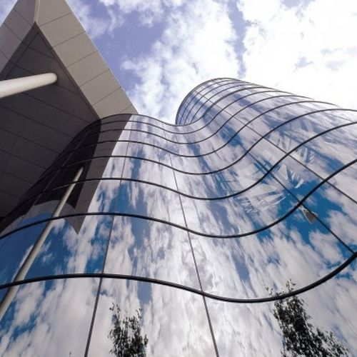 Facade glass panel / curved / tempered Tambest Glass Solutions