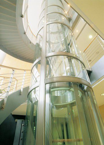 Interior organization glass panel / curved / laminated Tambest Glass Solutions