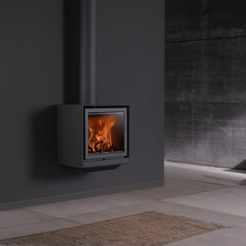 Wood heating stove / contemporary / metal / wall-mounted 16-UP Stûv