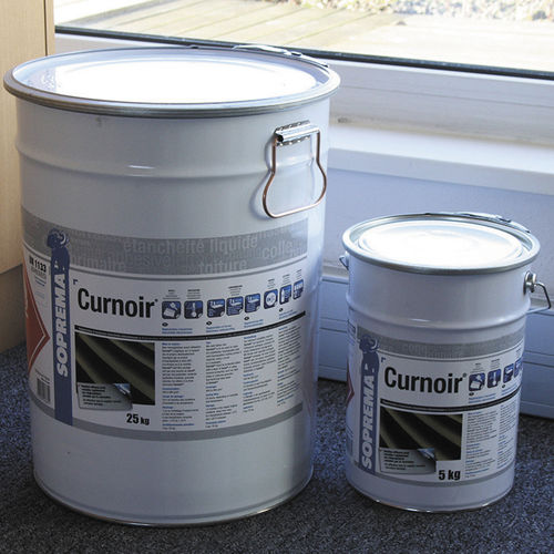 sealing coating / for foundations / for concrete / bituminous