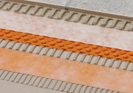 drainage waterproofing membrane / for floors / roll / polyethylene