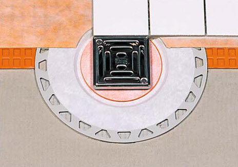 metal floor drain / round