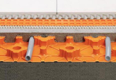 thermal-acoustic insulation / expanded polystyrene / for underfloor heating / panel