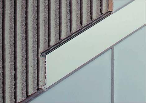 aluminum junction profile / for tiles