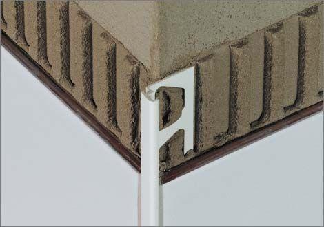 aluminum edge trim / for tiles / straight