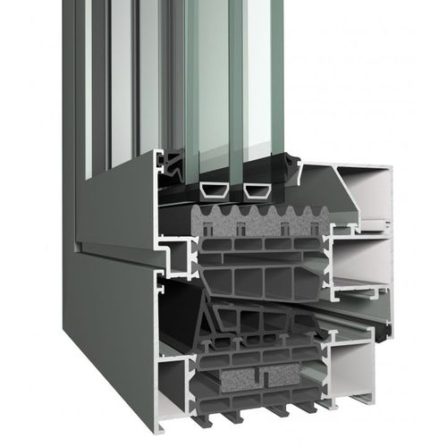 aluminum window profile / thermally-insulated / acoustic / burglar-proof