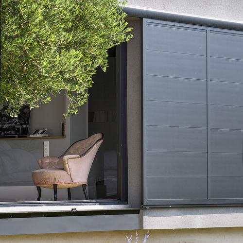 sliding shutter / aluminum / for facades / thermal break