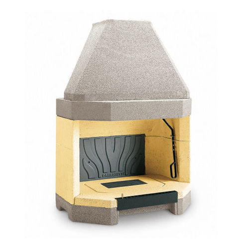 open wood hearth / 1-sided / cast iron / for fireplaces