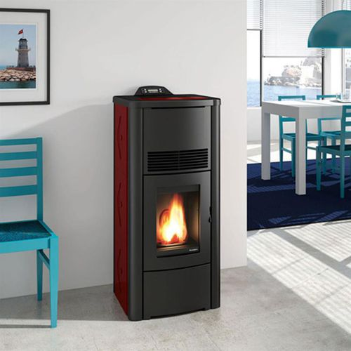 pellet boiler stove / contemporary / steel / cast iron