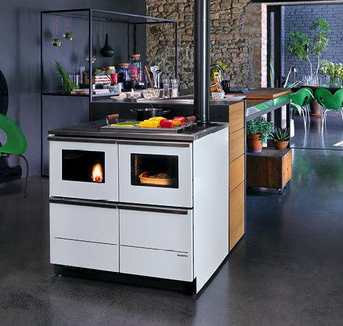 pellet range cooker / stainless steel / for boilers