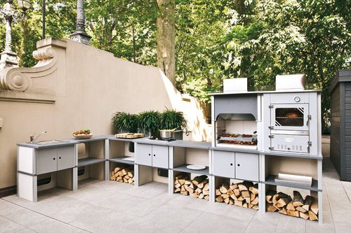 gas barbecue / charcoal / wood-burning / fixed
