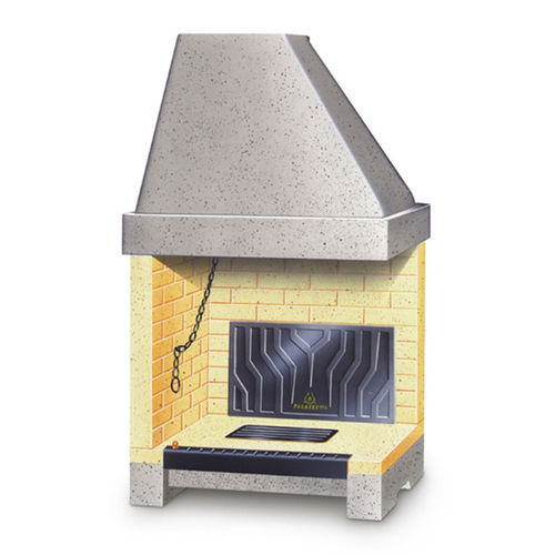 open wood hearth / corner / cast iron / for fireplaces
