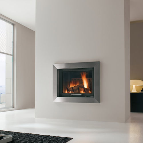 contemporary fireplace surround / steel